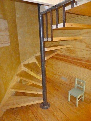 Escaliers art mur - Escalier colimacon bois ...